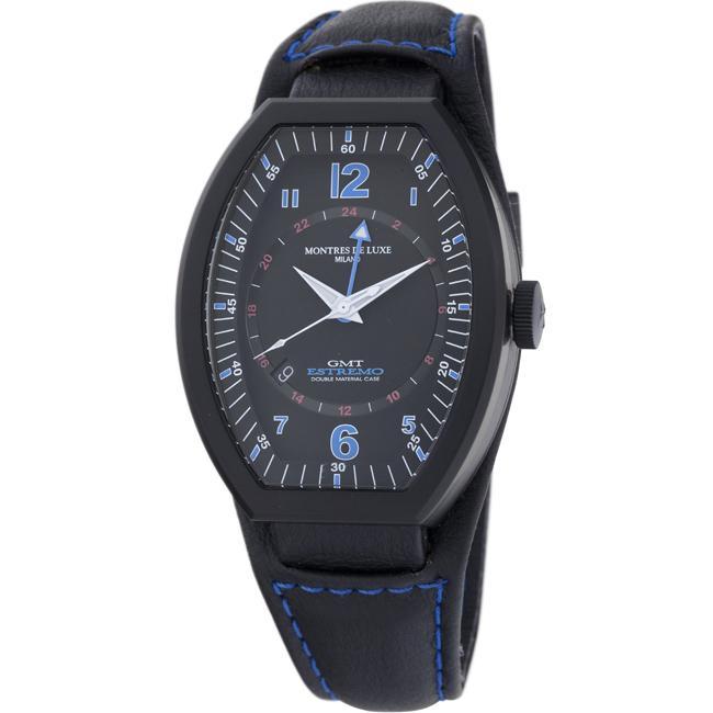 Montres De Luxe Men's 'Estremo' GMT Watch