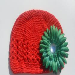 Red Hat and Green Flower Clip