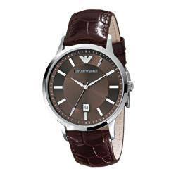 Emporio Armani Men's AR2413 'Classic' Brown Leather Watch