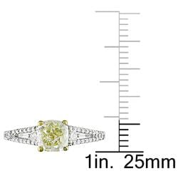Miadora 18k Gold 1 1/3ct TDW Yellow and White Diamond Ring (G-H, VS1-VS2)