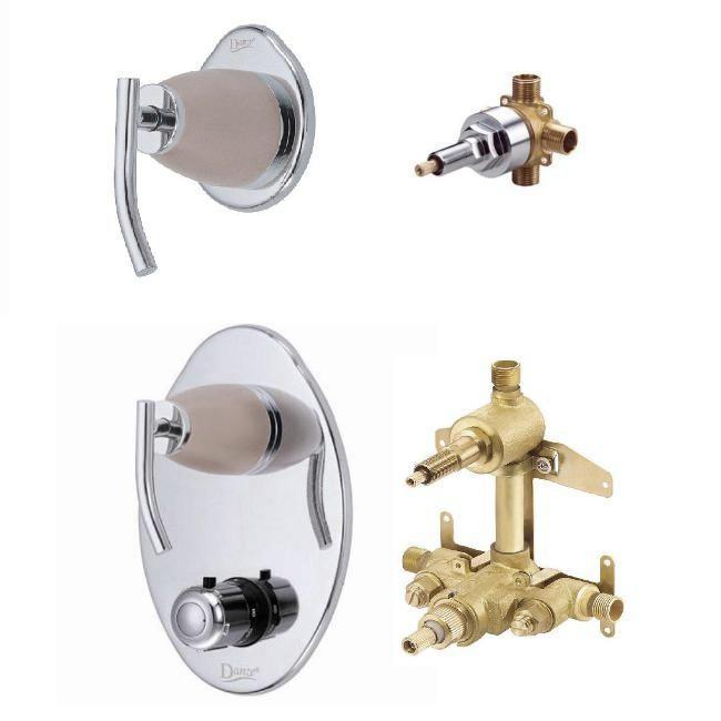 Sonora Two handle Thermostatic Shower Valve/ 4 Port Shower Diverter