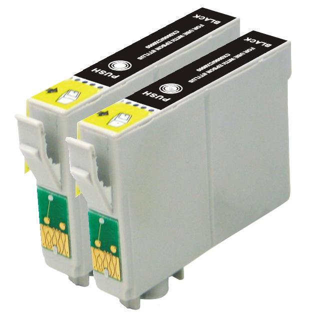 Epson T078120, T0781 Compatible (Remanufactured) Ink Cartridge (2-Pack)