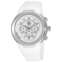 Philip Stein Men's 'Active' White Strap Chronograph Watch
