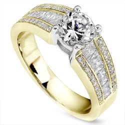 18k Gold 1 1/2ct TDW Diamond Engagement Ring (H-I, I1-I2)