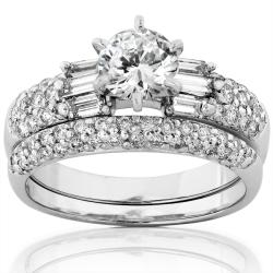 14k White Gold 1 3/4ct TDW Diamond Bridal Ring Set (H-I, I1-I2)