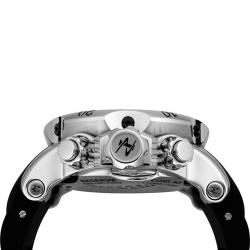 Invicta Men's Reserve Silver Dial Black Rubber Chronograph Watch