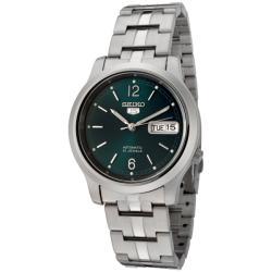 Seiko Men's Seiko 5 Dark Green Dial Stainless Steel Automatic Watch