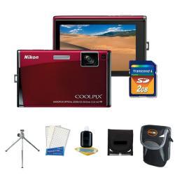 Nikon Coolpix S60 10MP Digital Camera with Camera Accessories Kit (Refurbished)