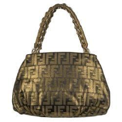 Fendi 'Grande Mia' Canvas Shoulder Bag
