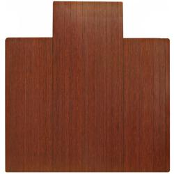 Eco Bamboo Standard Cherry Chair Mat with lip (55 x 57)