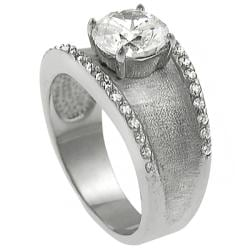 Tressa Sterling Silver Round-cut CZ Ring