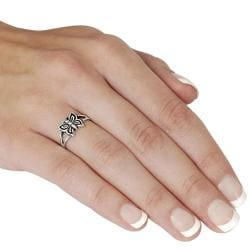 Journee Sterling Silver Butterfly Ring