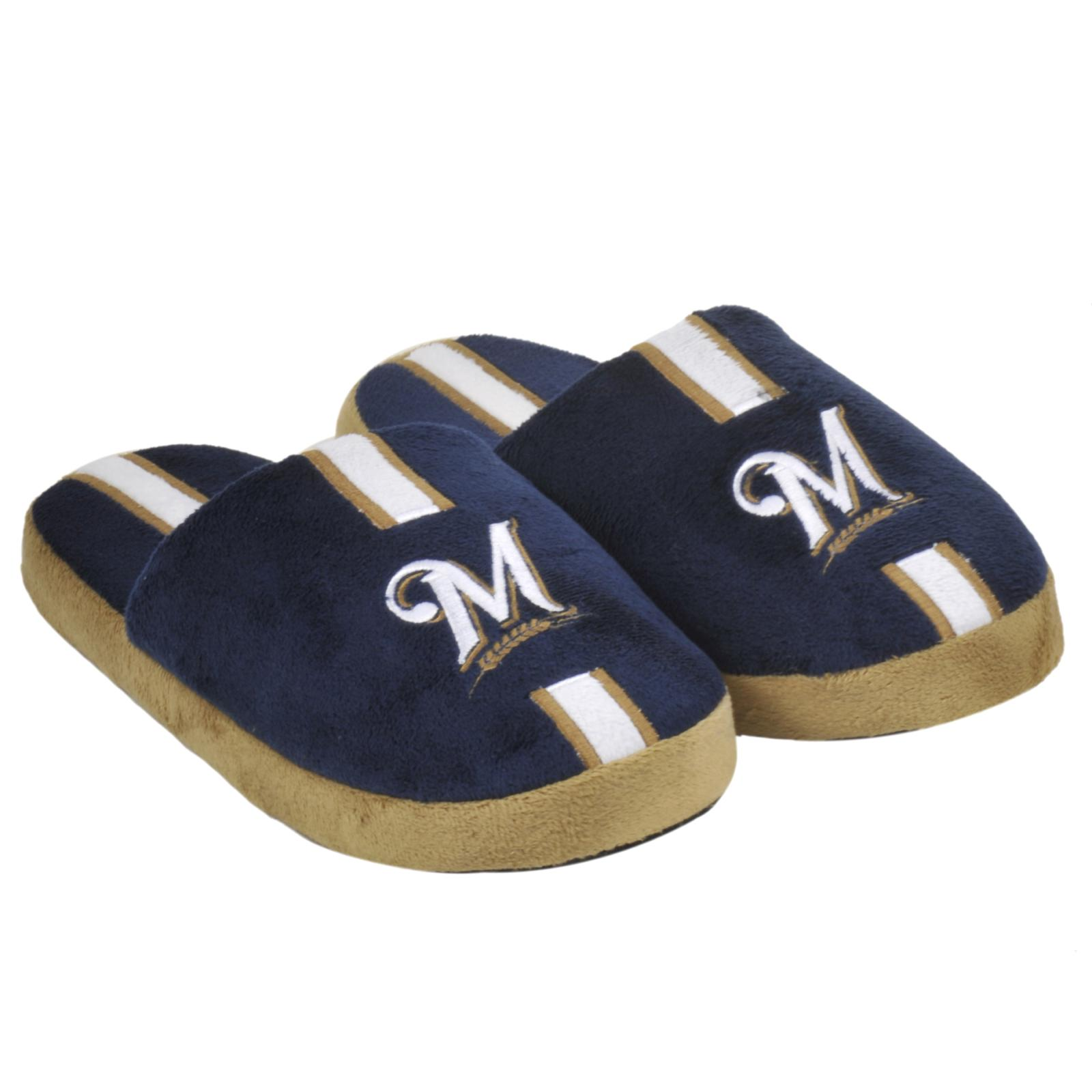 Milwaukee Brewers Striped Slide Slippers