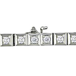 Miadora 14k White Gold 3ct TDW Diamond Tennis Bracelet (G-H, SI1-SI2)