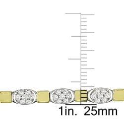 Miadora 18k Two-tone Gold 2 1/2ct TDW Diamond Bracelet (G-H, SI1-SI2)