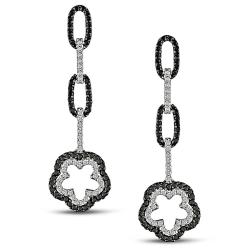 Miadora 18k Gold 1 1/3ct TDW Black and White Diamond Earrings (G-H, SI1-SI2)