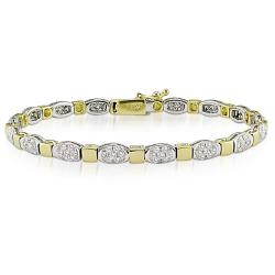 Miadora 18k Two-tone Gold 2 1/2ct TDW Diamond Bracelet (G-H, SI1-SI2)