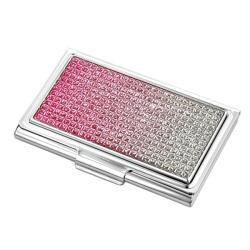 Pink Crystal Business Card Holder