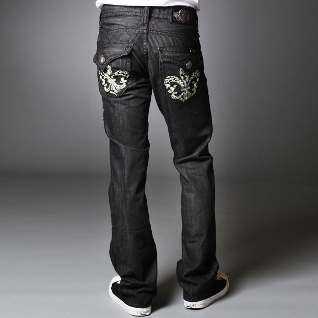 Laguna Beach Jean Company Men's Redondo Beach Black Straight Leg Jeans