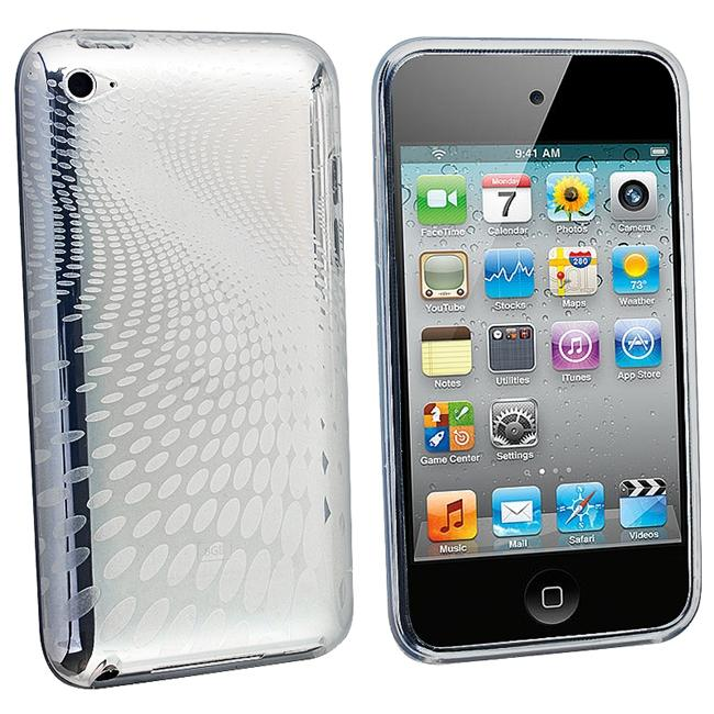 Clear Swirl TPU Rubber Skin Case for Apple iPod Touch