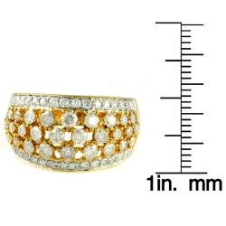 Beverly Hills Charm 14k Yellow Gold 1 7/8ct TDW Diamond Dome Ring (H-I, I1-I2)