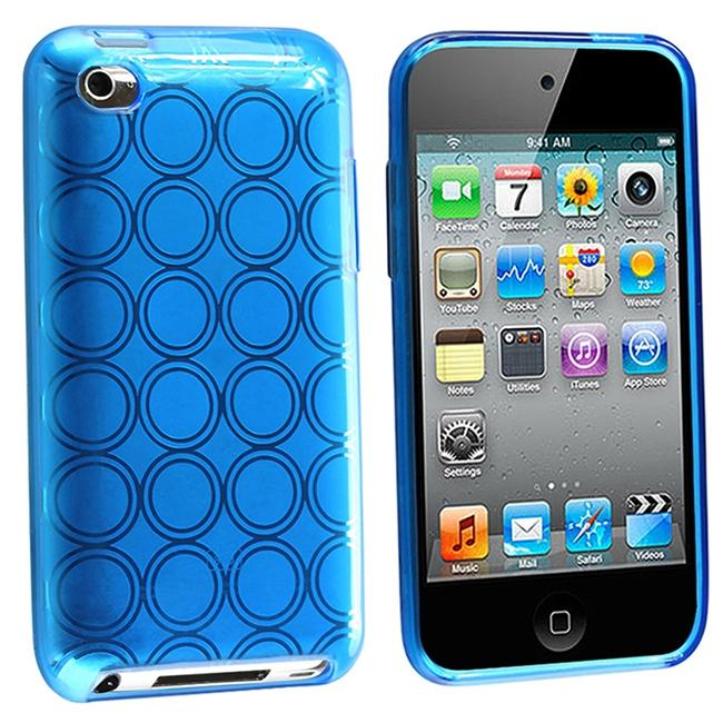 Clear Light Blue Circle TPU Rubber Case for Apple iPod Touch
