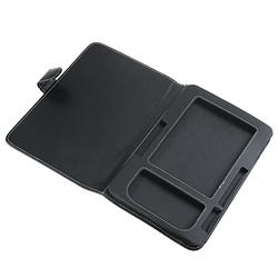 Black Synthetic Leather Case for Amazon Kindle 2