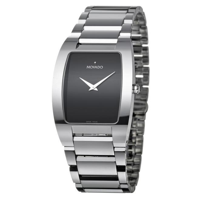 Movado Men's 'Fiero' Tungsten Carbide Quartz Watch