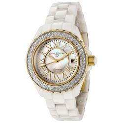 Swiss Legend Women's Karamica White Ceramic White Diamond Watch