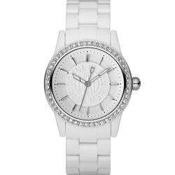 DKNY Women's White Plastic Bracelet Watch