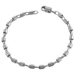Fremada 14k White Gold 8.5-inch Bullet Chain Bracelet