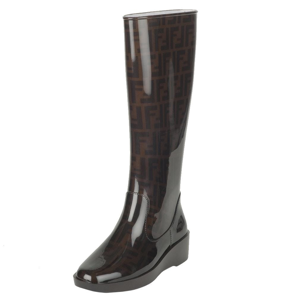 Fendi Women's Rubber Wedge Rain Boot