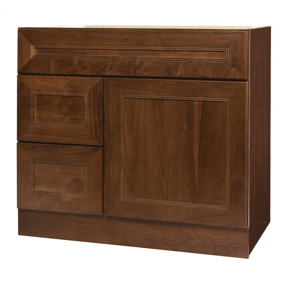 San Remo Series 36x21 inch Left side Drawers Vanity Base Oversto