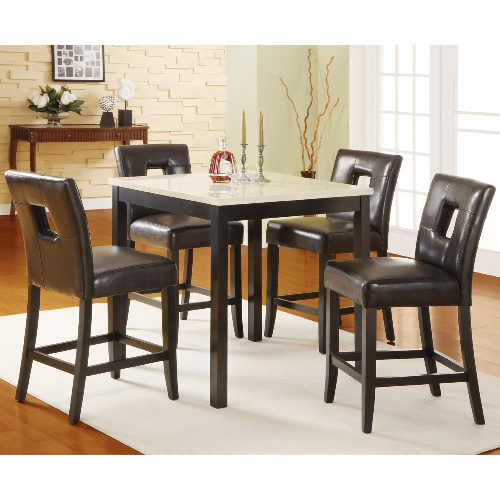 bunker hill 5 piece counter height dining set espresso collections