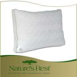 Nature's Rest 500 Thread Count Cotton All Natural Arctic White Down Pillow