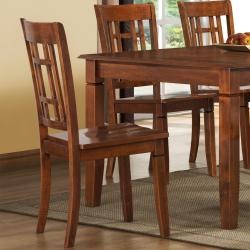 ETHAN HOME Athens Walnut Lattice-back Chairs (Set of 2)