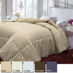 Natural Cotton Cover Down Blend 233 Thread Count Medium Warm Comforter