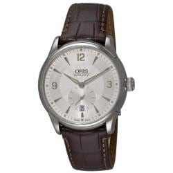 Oris Men's 'Artelier Small Second' Brown Strap Automatic Watch