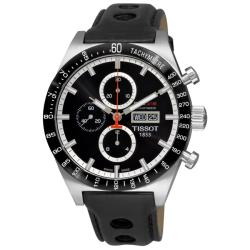 Tissot Men's 'T-Sport PRS 516' Black Strap Automatic Chronograph Watch.
