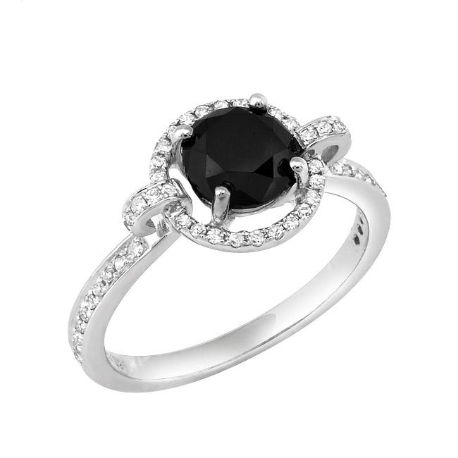14k White Gold 1 3/4ct TDW Black and White Diamond Ring (G-H, SI1-SI2)