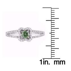 14k White Gold 2/5ct TDW Green and White Diamond Ring (G-H, SI1-SI2)