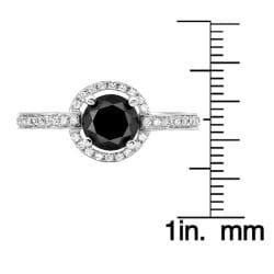 14k White Gold 1 1/3ct TDW Black and White Diamond Ring (G-H, SI1-SI2)