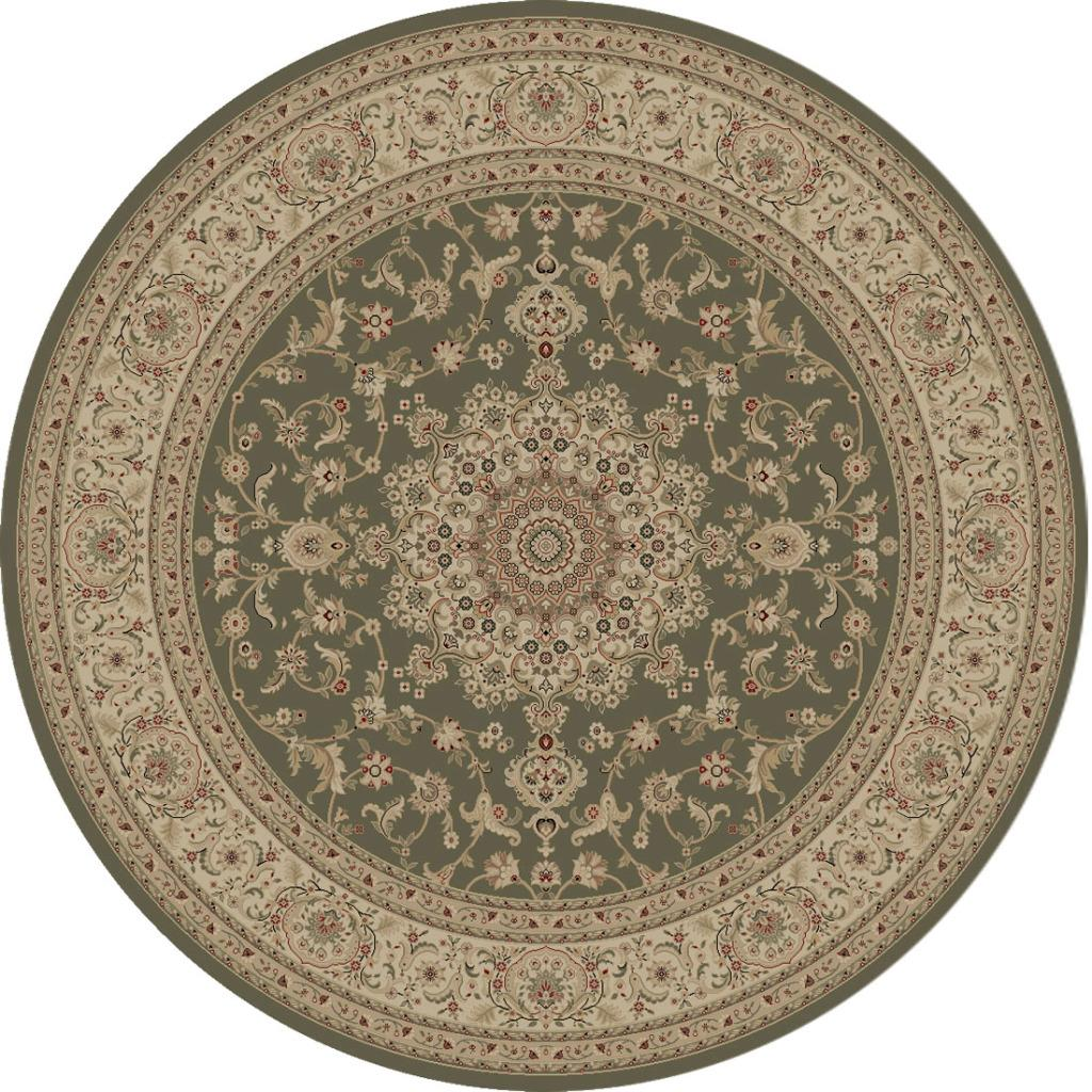 Kingston Green Oriental Rug (5'3 Round)