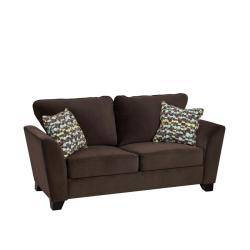 Gaft Modern Chocolate Brown Velvet Microfiber Sofa