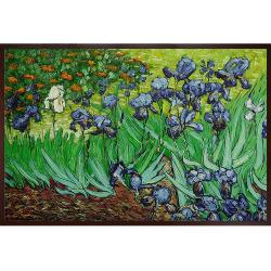 Van Gogh 'Irises' Hand-painted Framed Art Print