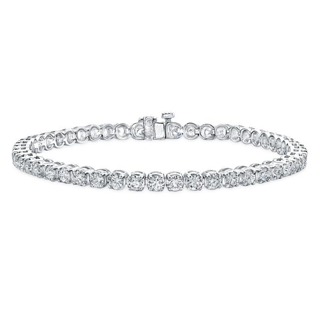 14k White Gold 3ct TDW 4-prong Diamond Tennis Bracelet (G-H, SI2)