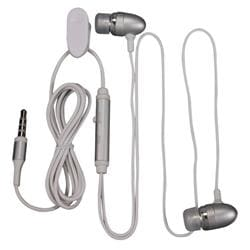 Silver Universal 3.5mm In-ear Stereo Headset with On Off and Mic