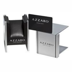 Azzaro Men's 'Legend Rectangular Chrono' Silver Face Rose PVD Watch