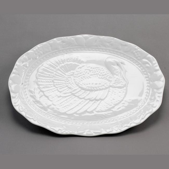 Porcelain White Turkey Platter