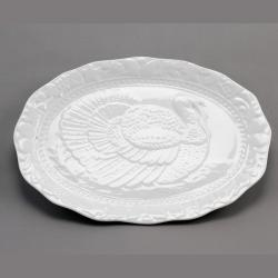 Porcelain White Turkey Platter